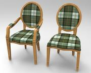 Chair and Armchair 3d model