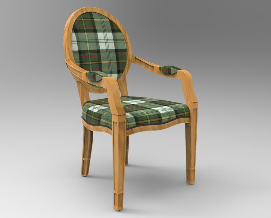 Chaise et fauteuil royalty-free 3d model - Preview no. 3
