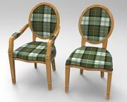 Cadeira e Poltrona 3d model