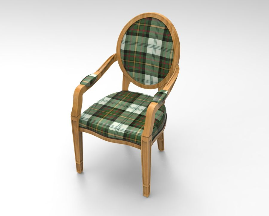 Chaise et fauteuil royalty-free 3d model - Preview no. 2