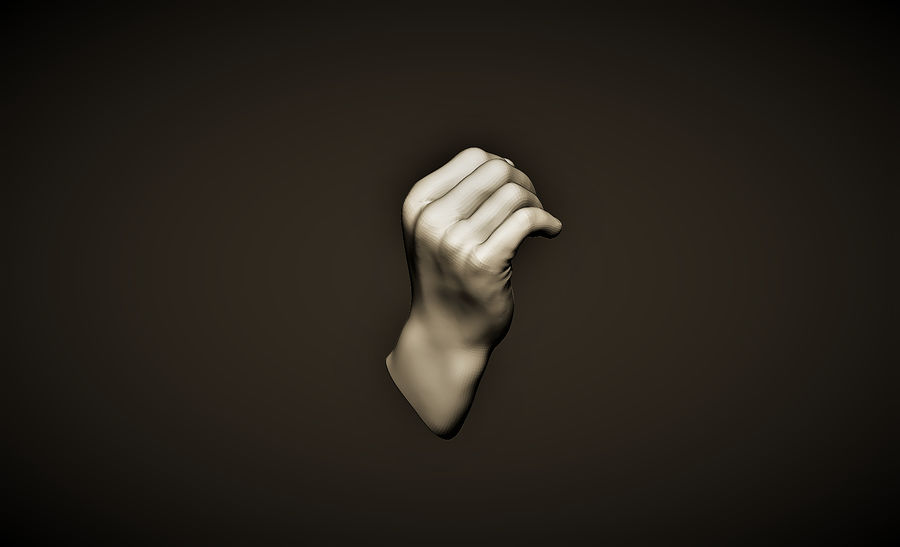 hand_1 royalty-free 3d model - Preview no. 3