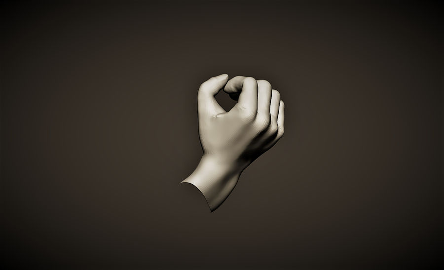 hand_1 royalty-free 3d model - Preview no. 2