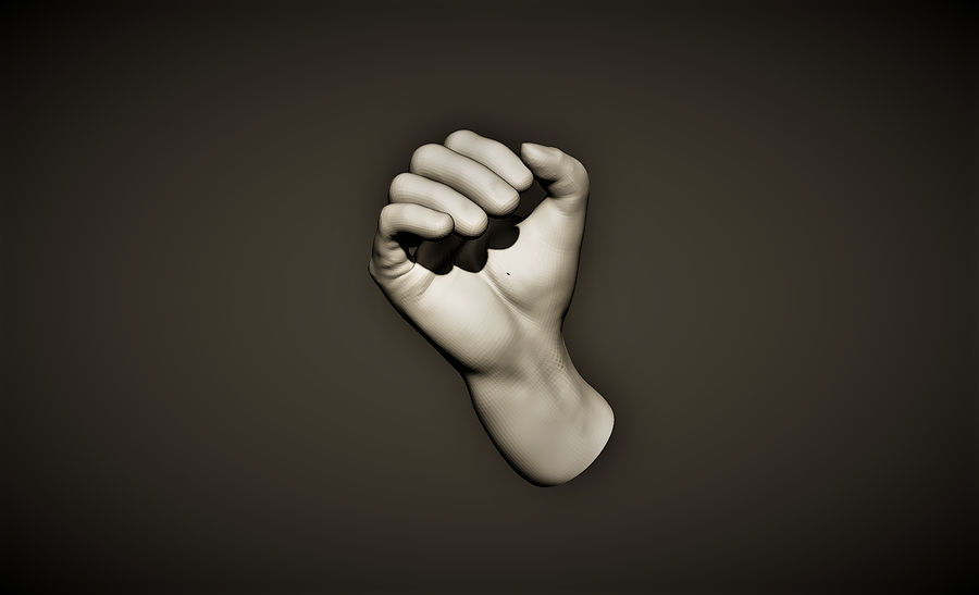 hand_1 royalty-free 3d model - Preview no. 1
