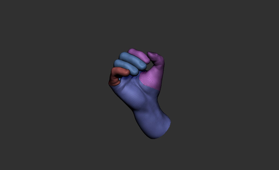 hand_1 royalty-free 3d model - Preview no. 5