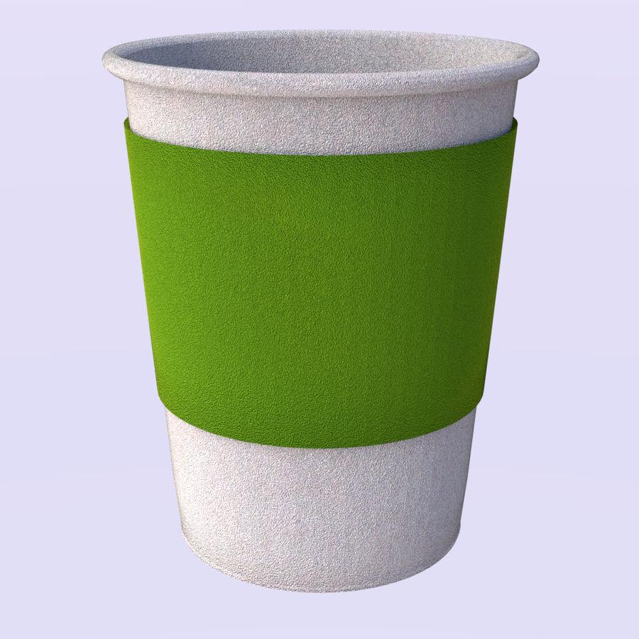紙コップ royalty-free 3d model - Preview no. 5