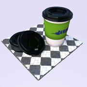 Copo de papel 3d model