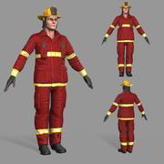 Пожарный 3d model
