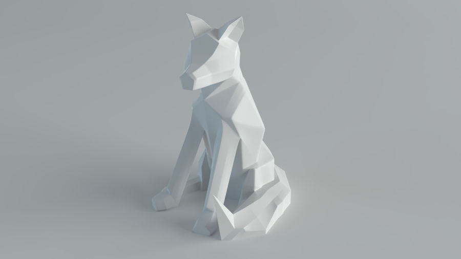 Sculture Lupo royalty-free 3d model - Preview no. 1