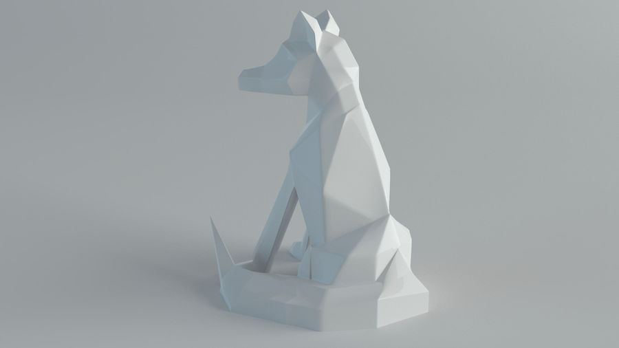 Sculture Lupo royalty-free 3d model - Preview no. 3