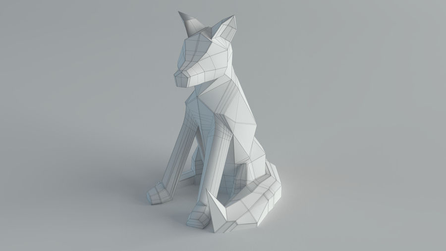 Sculture Lupo royalty-free 3d model - Preview no. 2