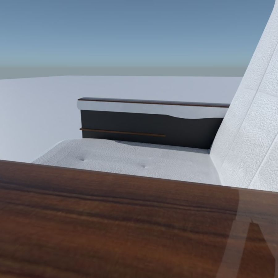 Aircraft Airplane Seat Chair royalty-free 3d model - Preview no. 3