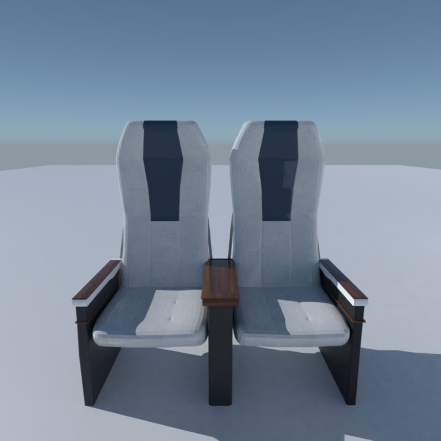 Aircraft Airplane Seat Chair royalty-free 3d model - Preview no. 4