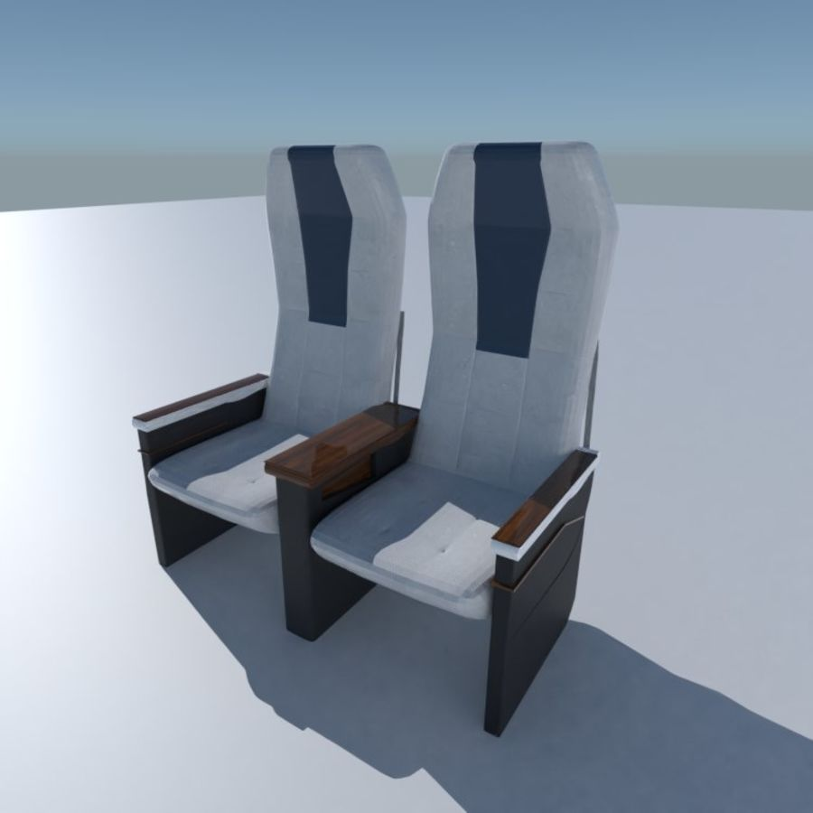 Aircraft Airplane Seat Chair royalty-free 3d model - Preview no. 1