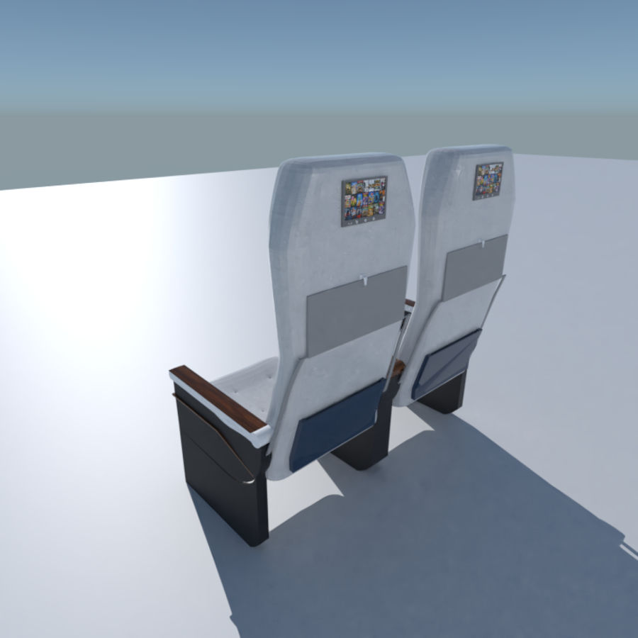 Aircraft Airplane Seat Chair royalty-free 3d model - Preview no. 2