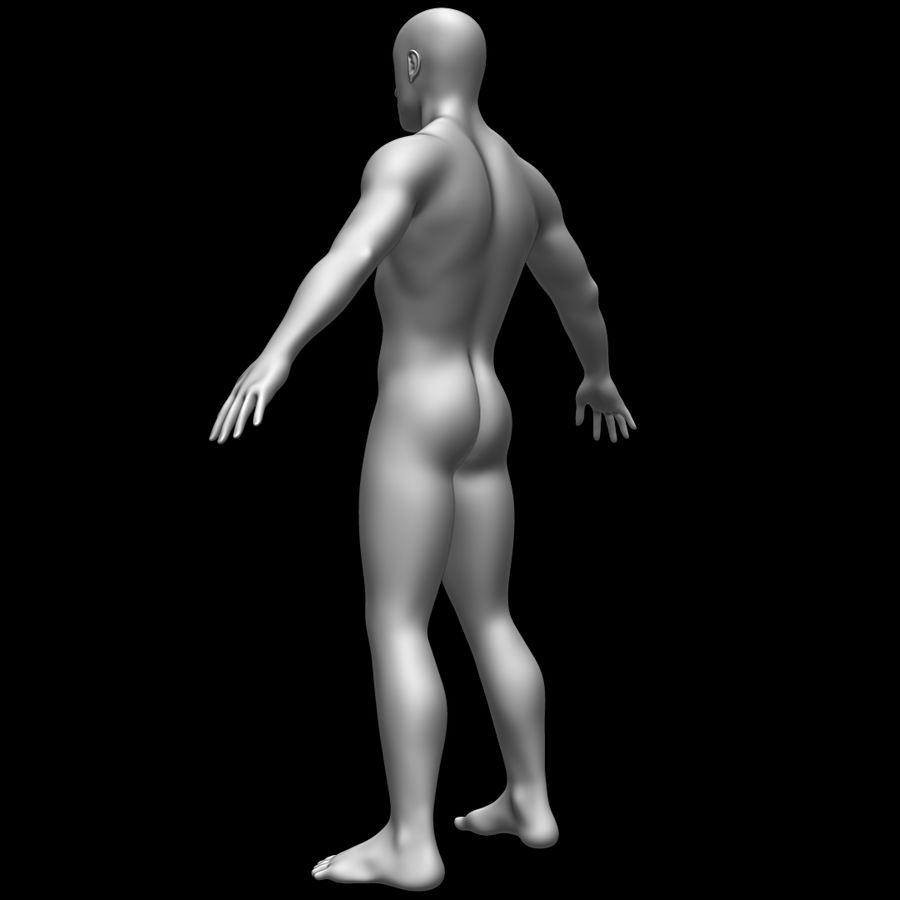 Erkek vücut taban örgü royalty-free 3d model - Preview no. 7