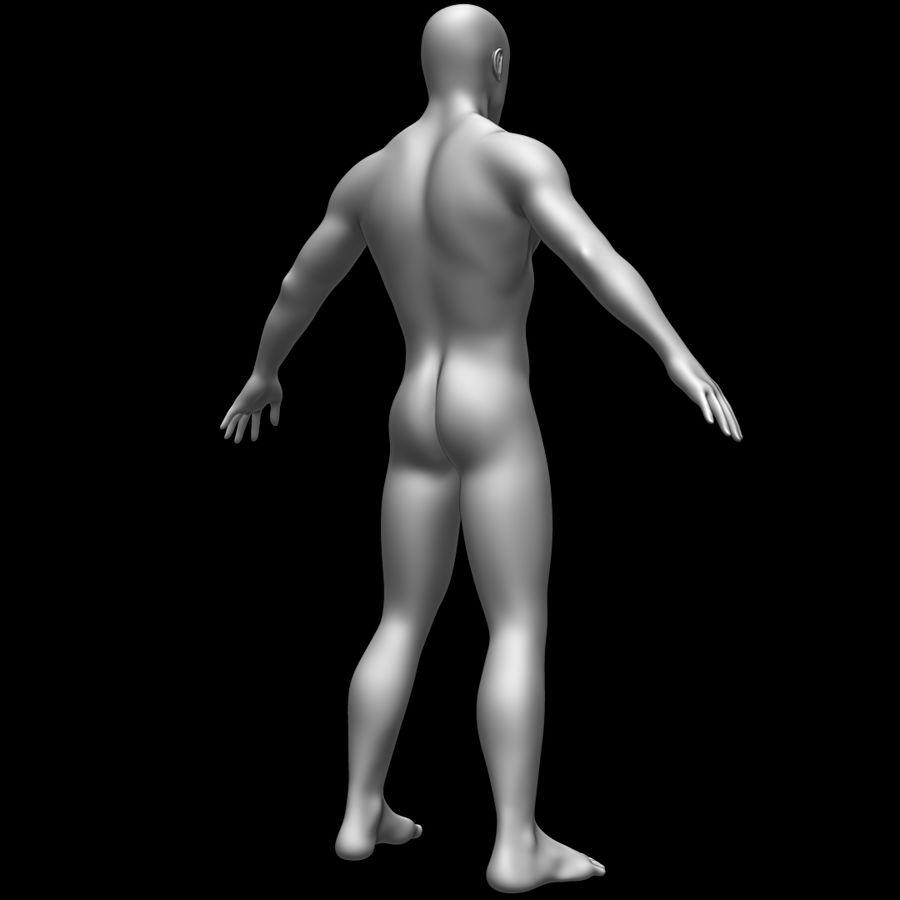 Erkek vücut taban örgü royalty-free 3d model - Preview no. 5