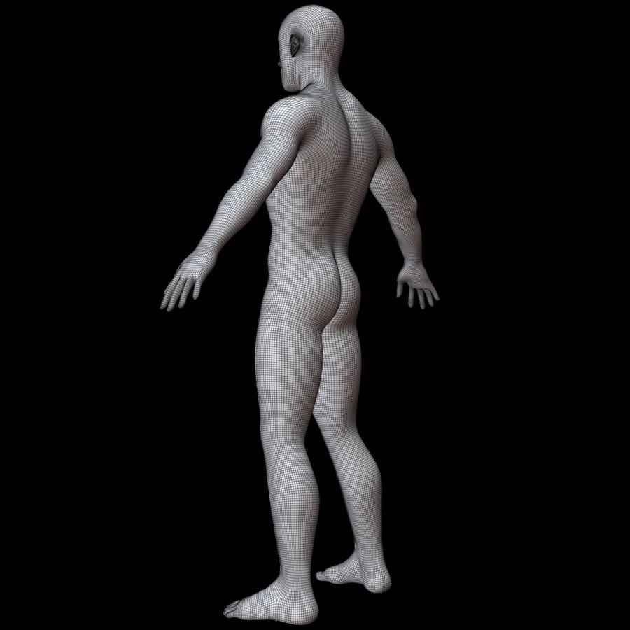 Erkek vücut taban örgü royalty-free 3d model - Preview no. 17