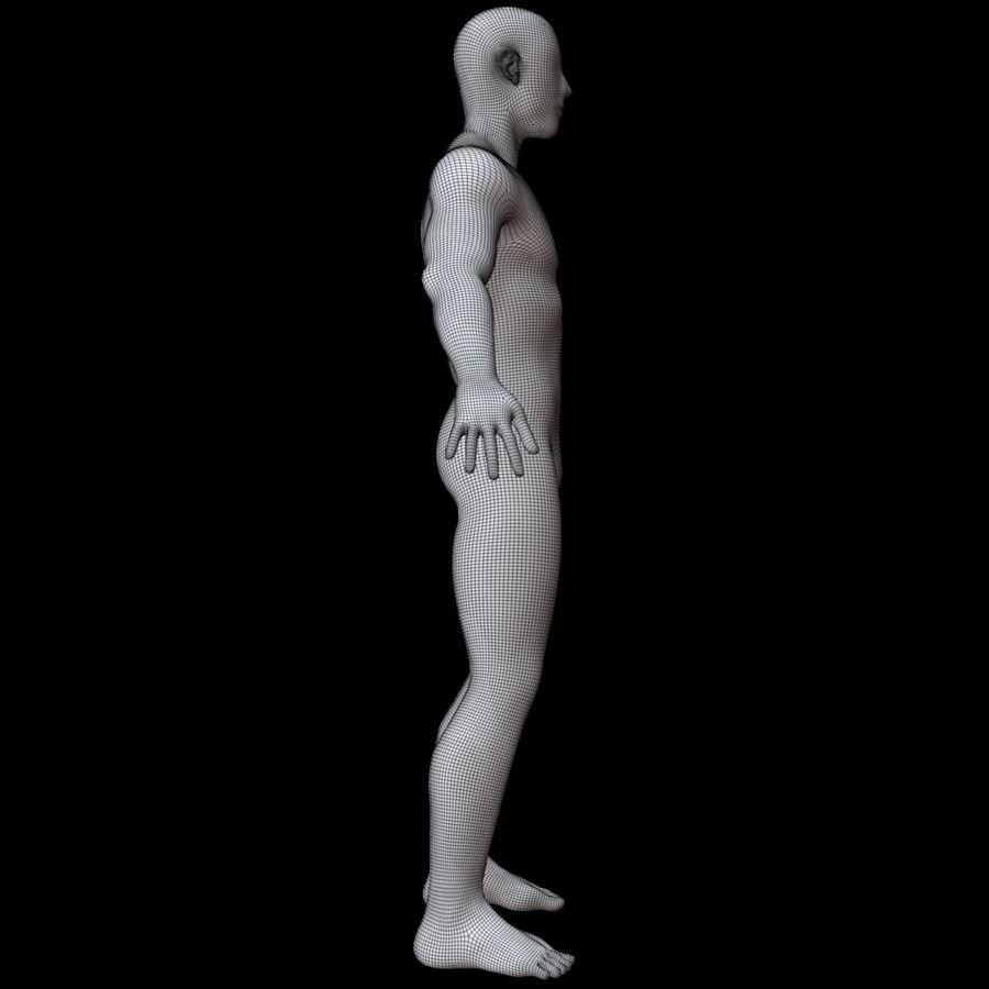 Erkek vücut taban örgü royalty-free 3d model - Preview no. 14