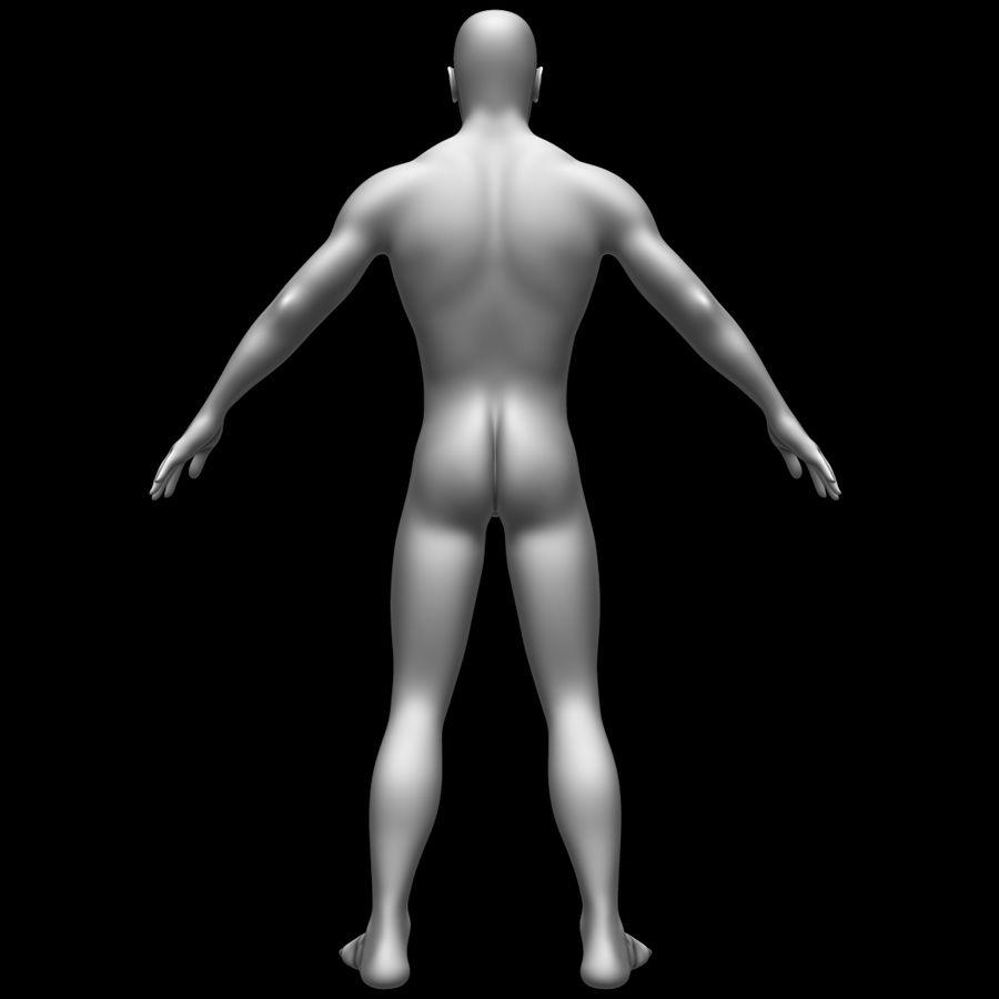 Erkek vücut taban örgü royalty-free 3d model - Preview no. 6