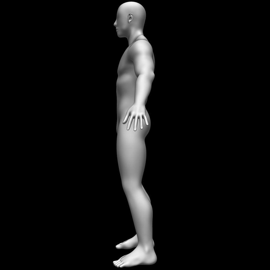 Erkek vücut taban örgü royalty-free 3d model - Preview no. 8
