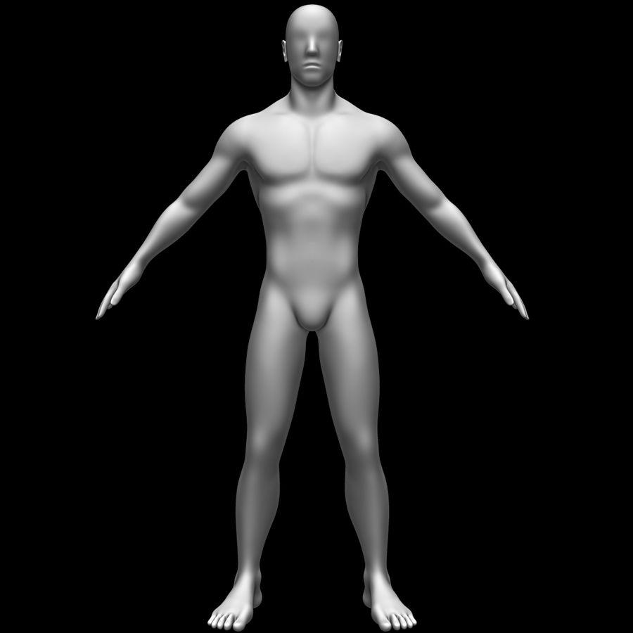 Erkek vücut taban örgü royalty-free 3d model - Preview no. 2