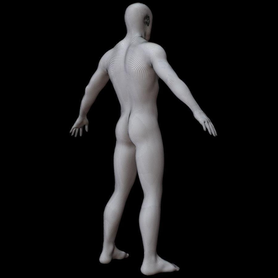 Erkek vücut taban örgü royalty-free 3d model - Preview no. 15