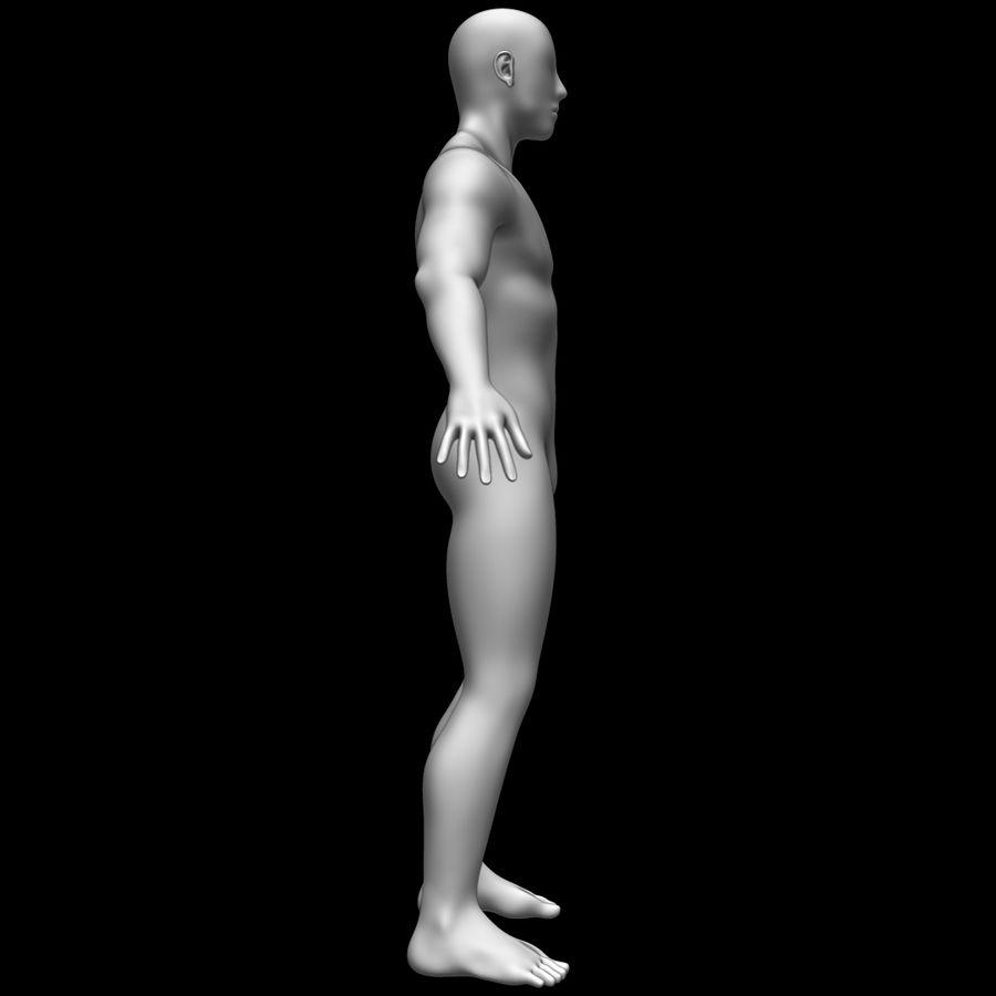 Erkek vücut taban örgü royalty-free 3d model - Preview no. 4