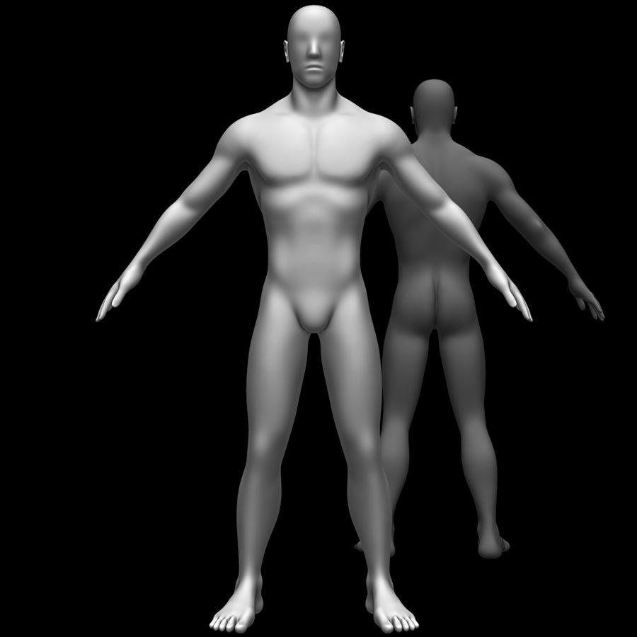Erkek vücut taban örgü royalty-free 3d model - Preview no. 1