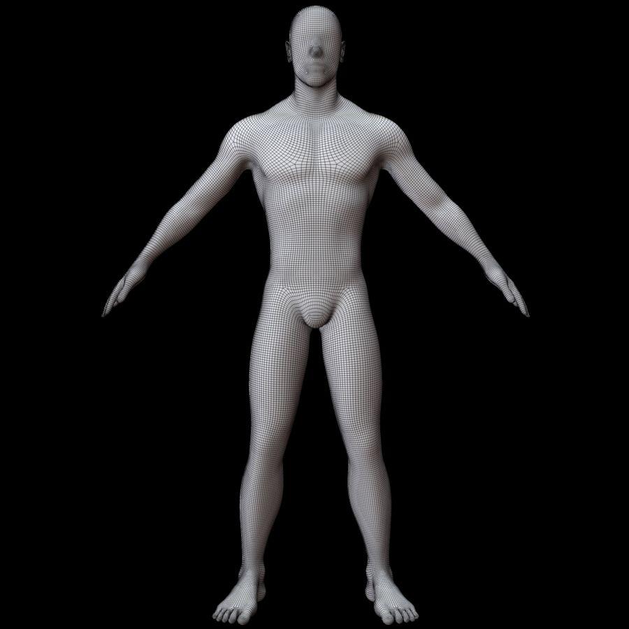 Erkek vücut taban örgü royalty-free 3d model - Preview no. 12