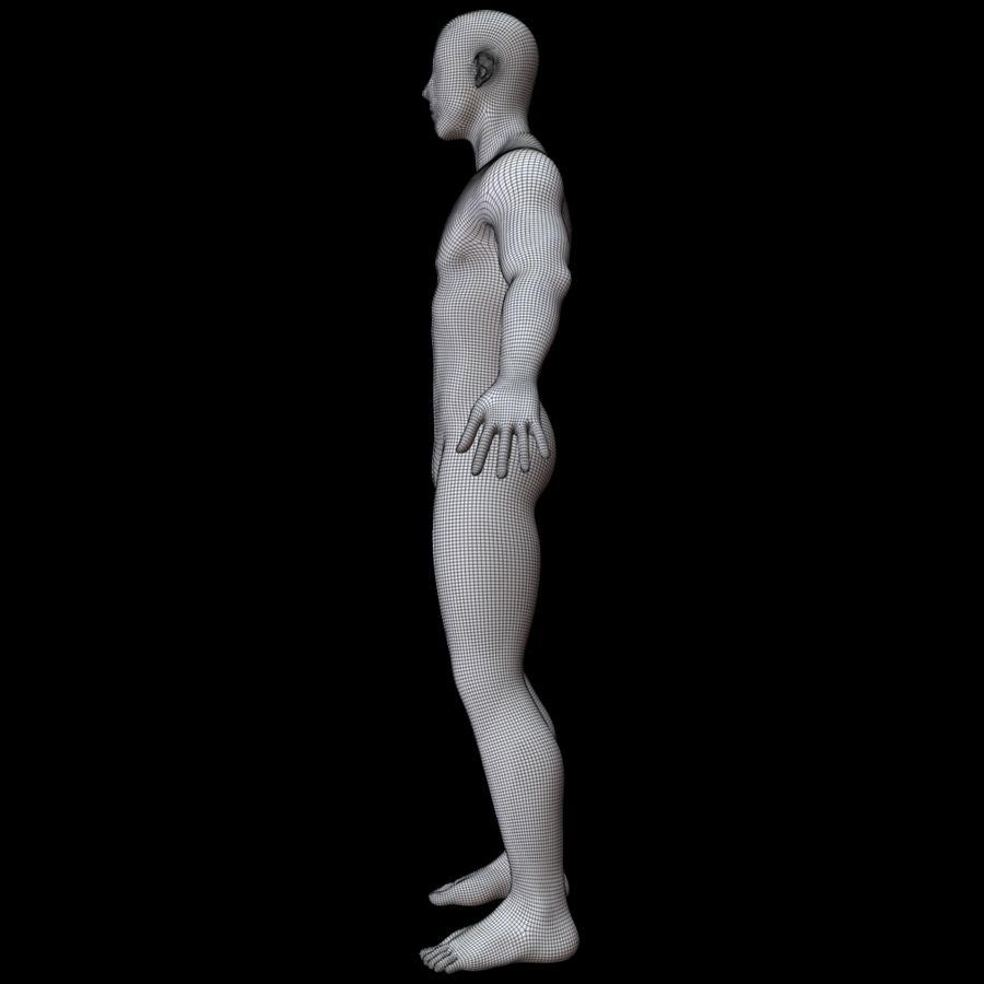 Erkek vücut taban örgü royalty-free 3d model - Preview no. 18