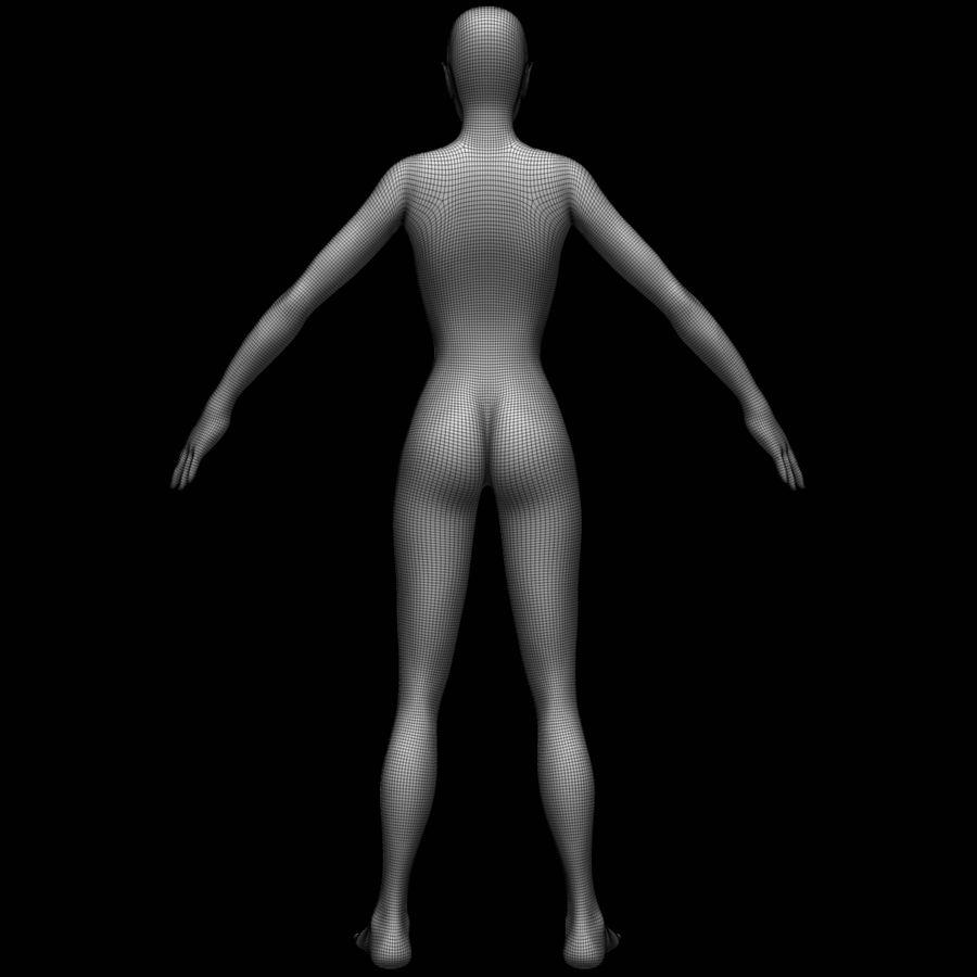 Siatka podstawy kobiecego ciała royalty-free 3d model - Preview no. 16