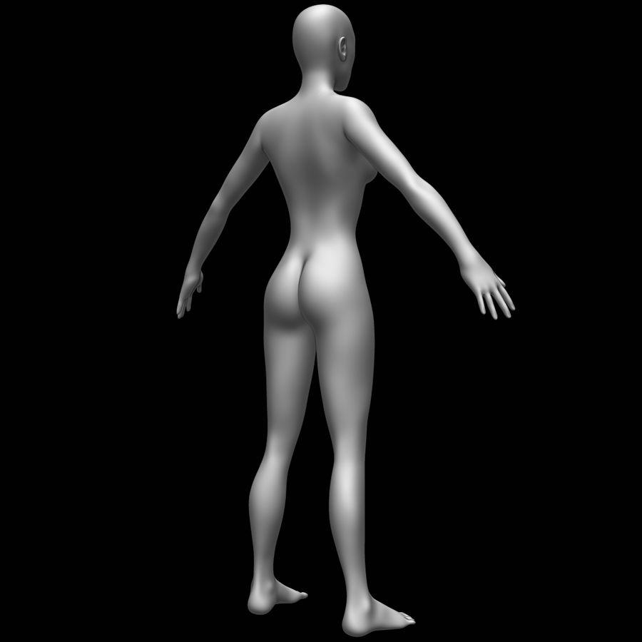 Siatka podstawy kobiecego ciała royalty-free 3d model - Preview no. 5