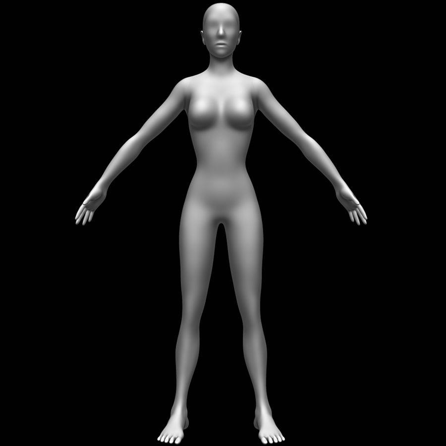 Siatka podstawy kobiecego ciała royalty-free 3d model - Preview no. 2
