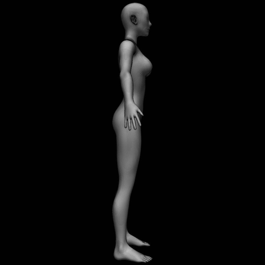 Siatka podstawy kobiecego ciała royalty-free 3d model - Preview no. 14