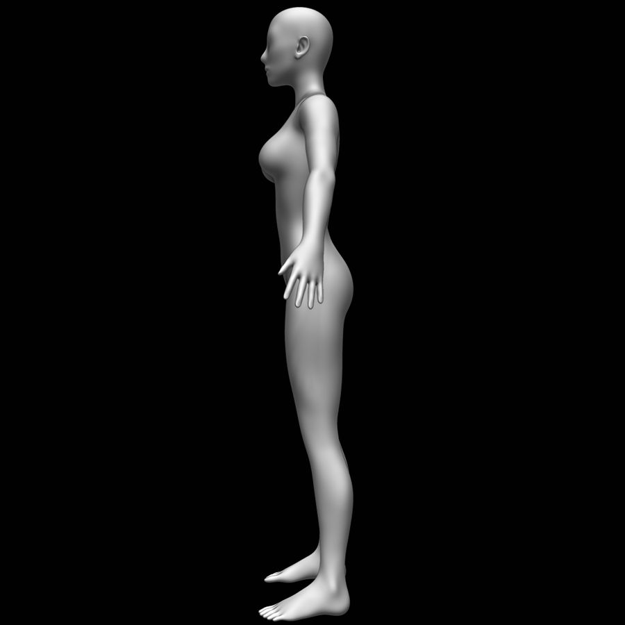 Maglia base corpo femminile royalty-free 3d model - Preview no. 8
