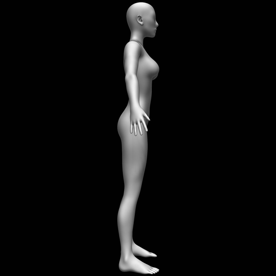 Maglia base corpo femminile royalty-free 3d model - Preview no. 4
