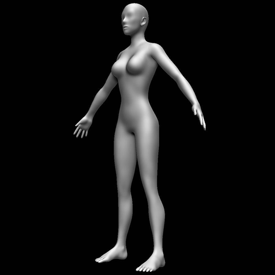 Siatka podstawy kobiecego ciała royalty-free 3d model - Preview no. 9