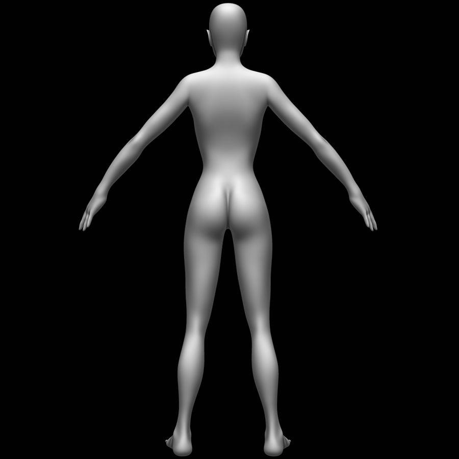 Siatka podstawy kobiecego ciała royalty-free 3d model - Preview no. 6