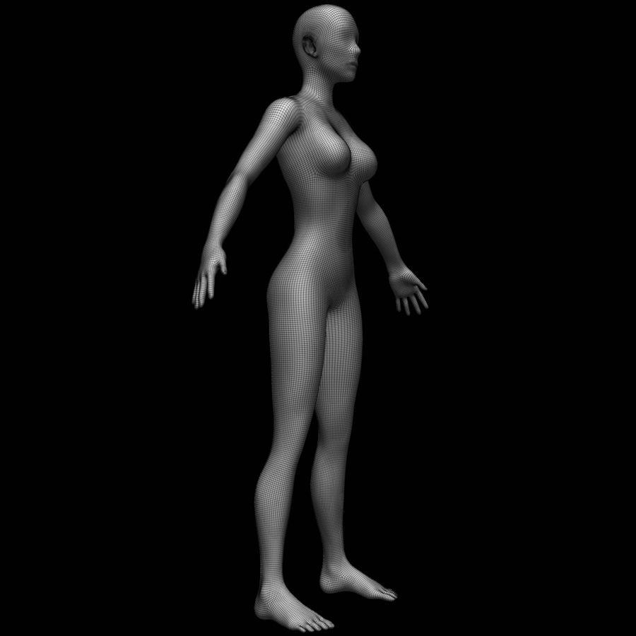 Siatka podstawy kobiecego ciała royalty-free 3d model - Preview no. 13
