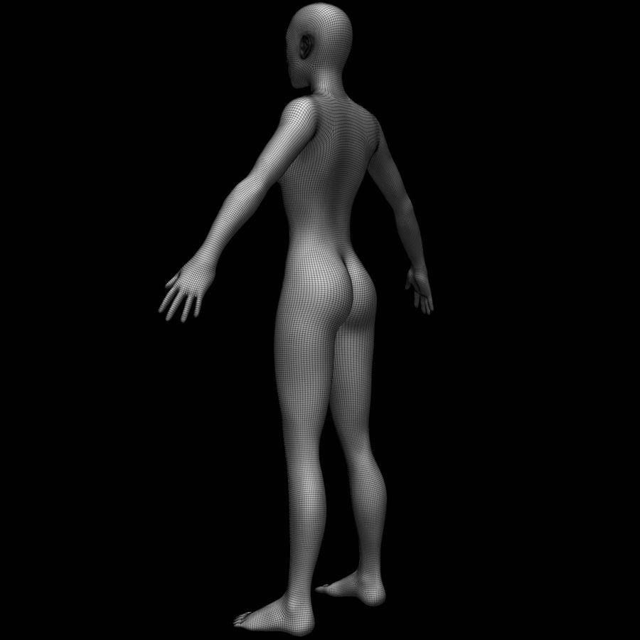 Siatka podstawy kobiecego ciała royalty-free 3d model - Preview no. 17