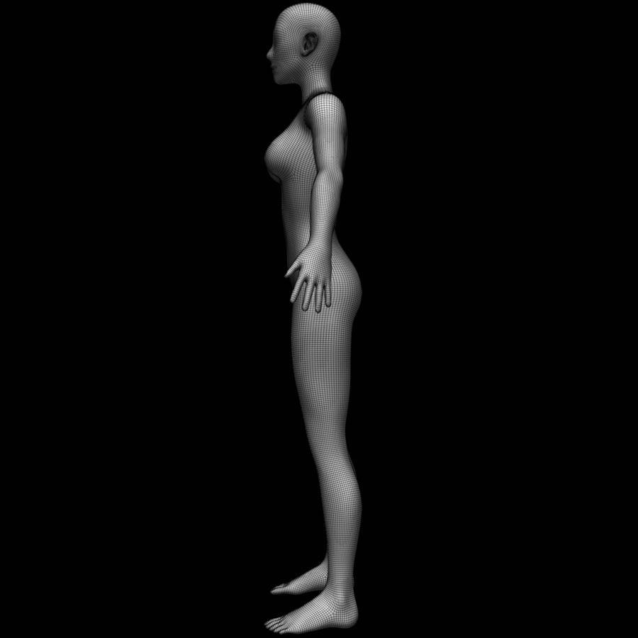 Siatka podstawy kobiecego ciała royalty-free 3d model - Preview no. 18