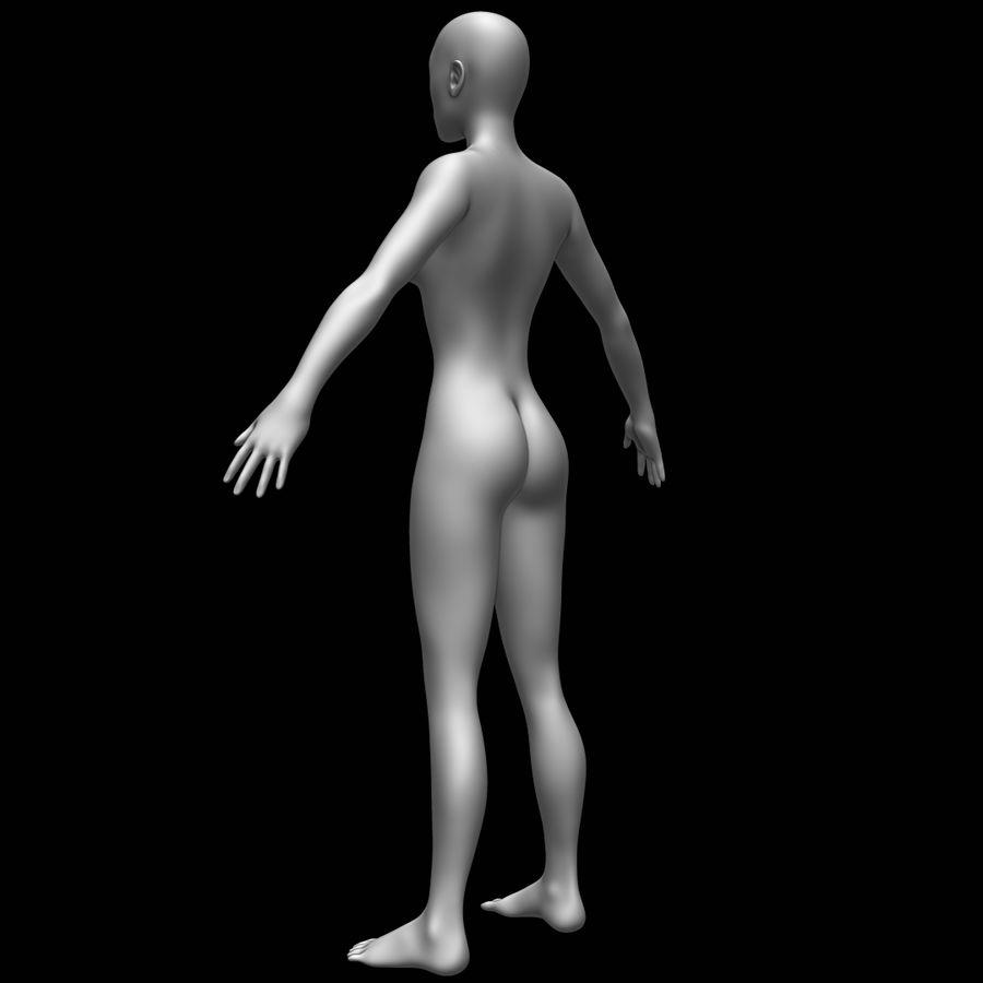 Siatka podstawy kobiecego ciała royalty-free 3d model - Preview no. 7