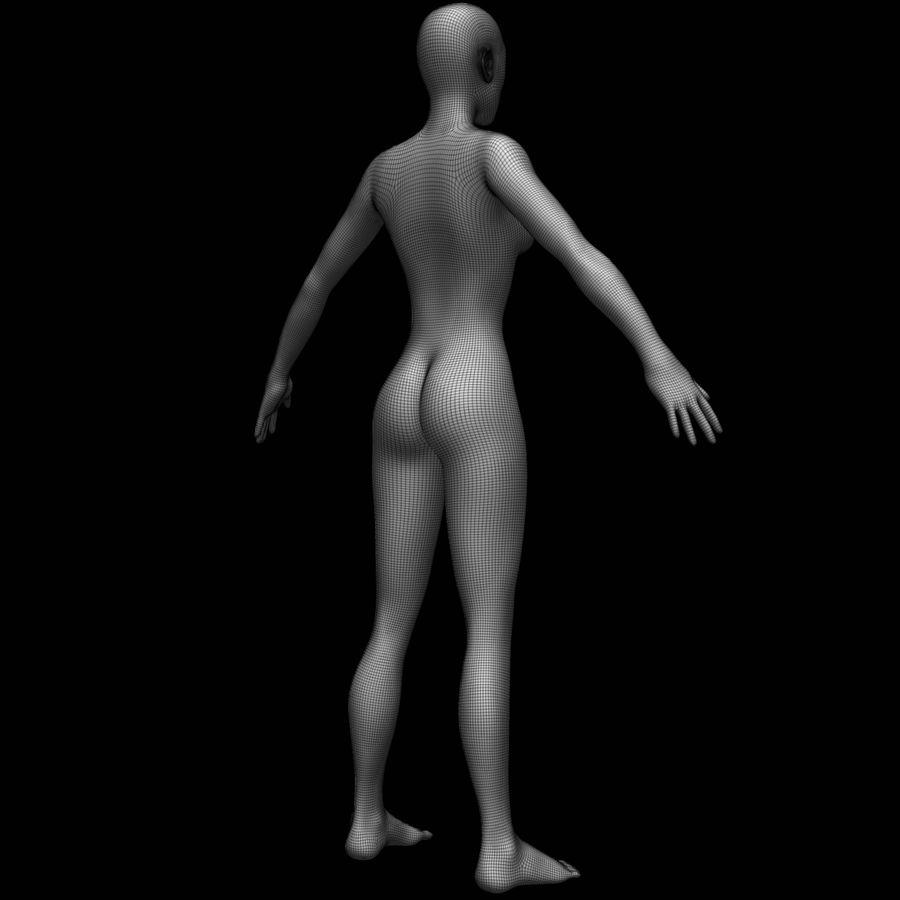 Siatka podstawy kobiecego ciała royalty-free 3d model - Preview no. 15