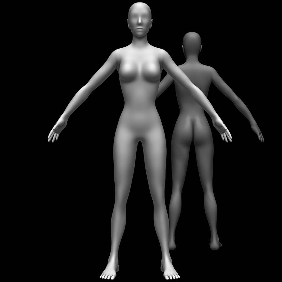 Siatka podstawy kobiecego ciała royalty-free 3d model - Preview no. 1