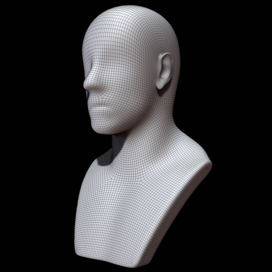 Mannequin head royalty-free 3d model - Preview no. 18
