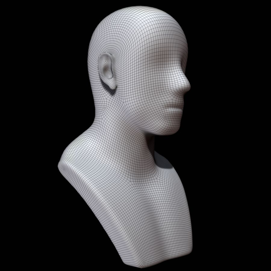 Mannequin head royalty-free 3d model - Preview no. 12