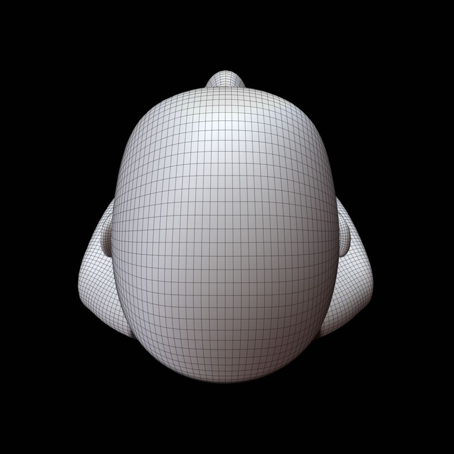 Mannequin head royalty-free 3d model - Preview no. 19