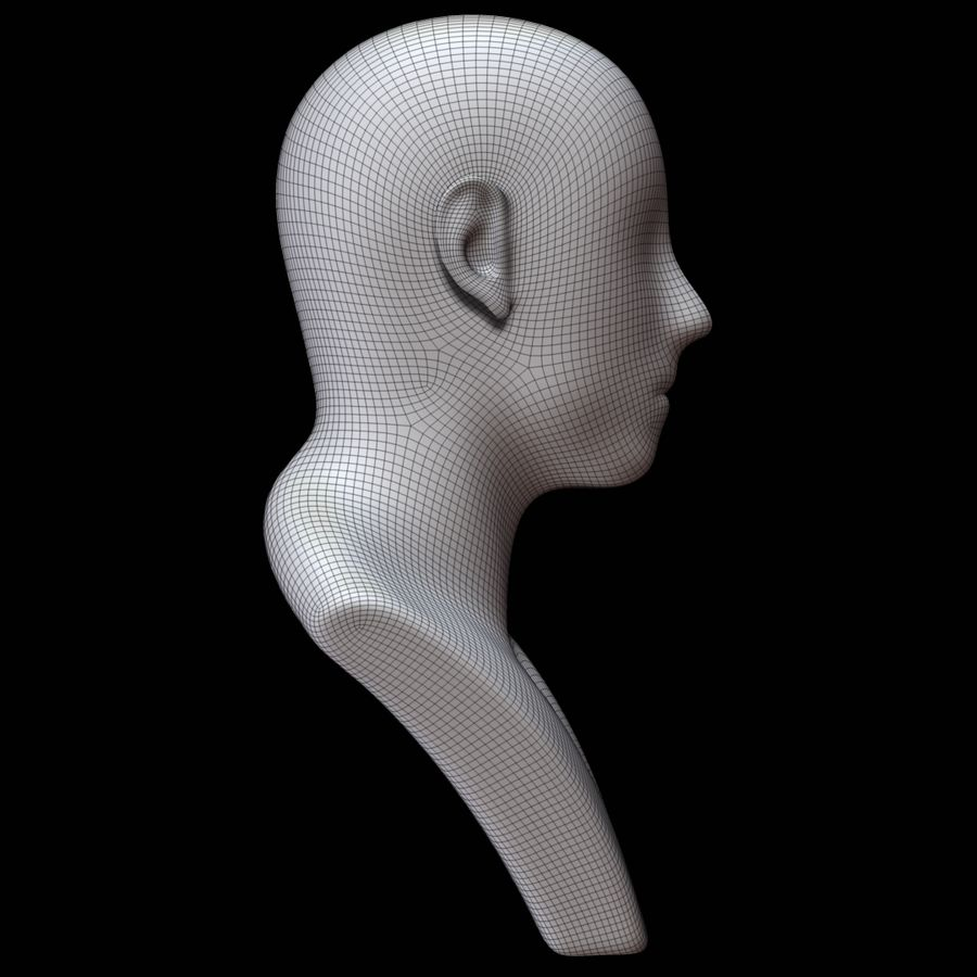 Mannequin head royalty-free 3d model - Preview no. 13