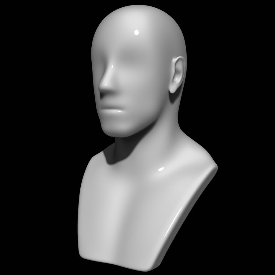 Mannequin head royalty-free 3d model - Preview no. 8