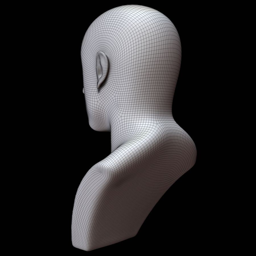 Mannequin head royalty-free 3d model - Preview no. 16